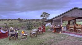 Lagerfeuer im Ol Pejeta Bush Camp in Laikipia - Community Reserve, Kenia