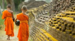 Monks in Cambodia Asia