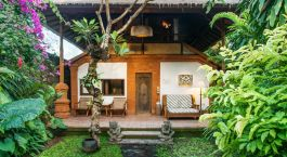 Private Terrace at The Tandjung Sari Hotel, Sanur, Indonesia