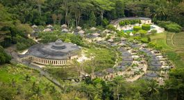 Overview of Amanjiwo Hotel in Indonesia, Borobudur