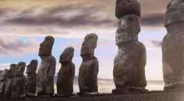 chile holidays Rapa Nui Easter Island Stone Head