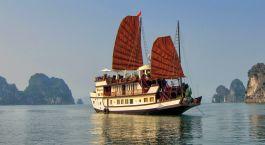 Außenansicht von Kreuzfahrt im Dragon's Pearl Hotel, Halong Bay, Vietnam