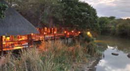 Covered lounge area at Thornybush Waterside Lodge, Kruger Central in South Africa