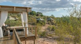 Balcony view of a guest lodge at Simbavati Hilltop Lodge Hotel, Kruger Central, South Africa