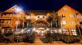 Außenansicht des Kosten Aike Hotel in El Calafate, Argentinien