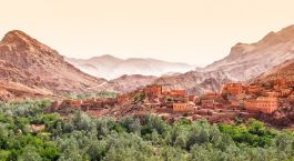 Enchanting Travels Morocco Tours Dades Canyon Morocco with the Atlas mountains in the back