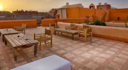 Roof terrace at Riad Dar Sara Hotel in Marrakech, Morocco