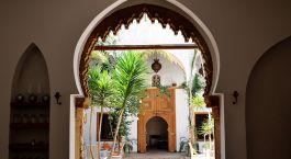 Inner courtyard at Riad Kalaa Hotel in Rabat, Morocco