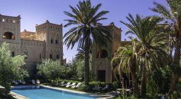Außenansicht des Ksar El Kabbaba in Skoura, Marokko