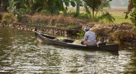 Man in Kerala Backwaters