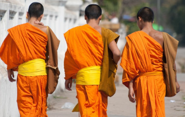 Buddhistische Mönche in Luang Prabang Laos