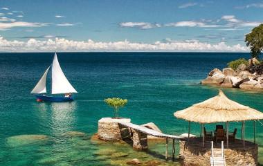 Boat in Lake Malawi in Africa