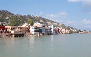 Der Haridwar Tempel am Ganges