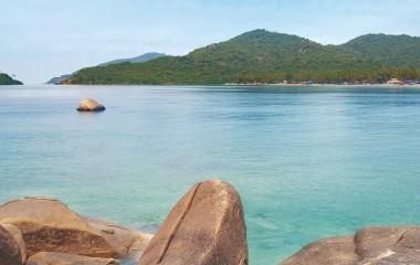 Aussicht eines Strandes in Indien