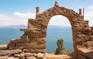 Rocky Arch on Taquile Island , Puno, Peru, South America - Peru and Bolivia Trip
