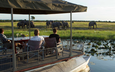 Außenansicht im  Chobe Game Lodge in Chobe National Park, Botswana