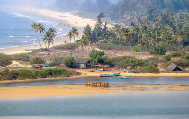 Beautiful Palolem beach in Goa, India
