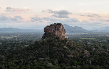 The historical Sigiriya rock fortress is surrounded by a breathtaking landscape, Sri Lanka, Asia
