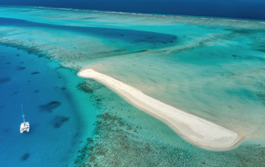 aerial photo of maldives atoll, Vaavu and South Male