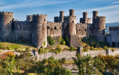 Enchanting Travels UK & Ireland Tours Famous Conwy Castle in Wales, United Kingdom, series of Walesh castles