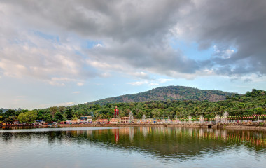 View of the landscape in Malayattoor, Ernakulam, Kerala, India - a pilgrimage spot for the Christians