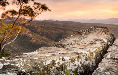 Enchanting Travels - Australia Tours - Cliff top views at sunset in the Grampians National Park, Australia