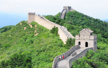 The Chinese great wall at Badaling in the mountains in the north of the capital Beijing