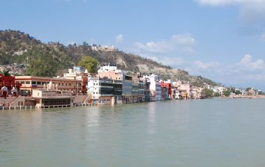 Der Haridwar Tempel am Ganges