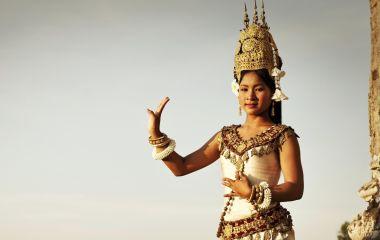 A dancer at Angkor Wat in Cambodia