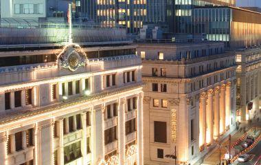 Außenansicht des Mandarin Oriental Tokyo Hotel in Tokio, Japan