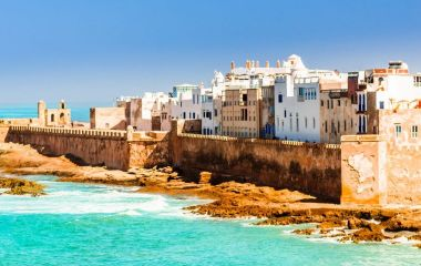Aerial view on old city of Essaouira in Morocco Africa