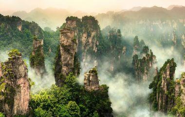 Enchanting Travels China Vacation Zhangjiajie cliff mountain at Wulingyuan Hunan China