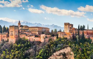 Enchanting Travels Spain Tours Panoramic view of famous Alhambra de Granada, Andalusia, Spain
