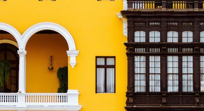 See colorful building on your Lima Tour, Peru