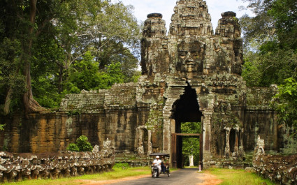 Enchanting Travels Cambodia Tours Angkor Thom Gate - summer trip