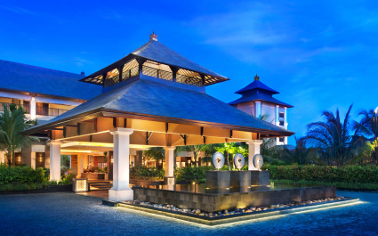 Exterior view of St. Regis Bali Resort Hotel in Nusa Dua, Indonesia