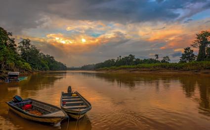 Kinabatangan river in Malaysia