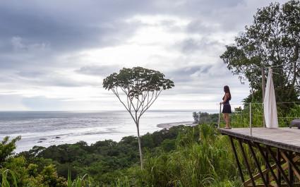 Wunderschöner Blick auf das Meer in Costa Rica