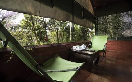 Ausblick im Hotel Grassroots Wayanad, Südindien