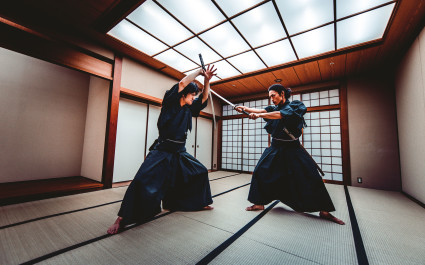 Samurai session in Kyoto