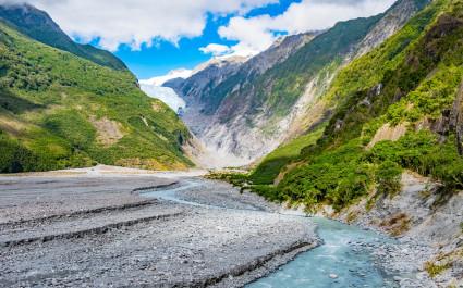 Franz-Josef-Gletscher im Westland-Nationalpark an der Westküste Neuseelands