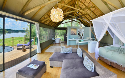 Zimmer in der Victoria Falls River Lodge in Simbabwe