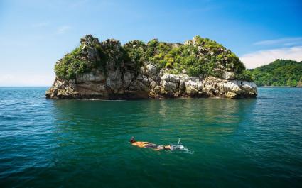 Snorkeling, Isla Tortuga, Costa Rica