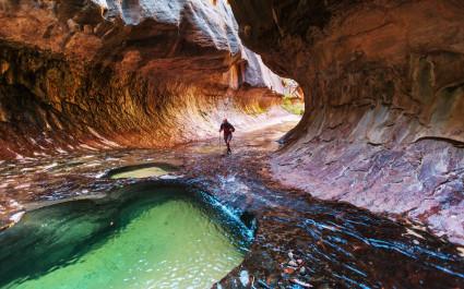 Narrows in Zion National Park, Utah USA