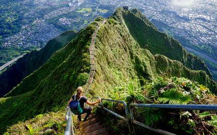 Stairway to Heaven, Haiku Stairs, Hawaii, Oahu, USA