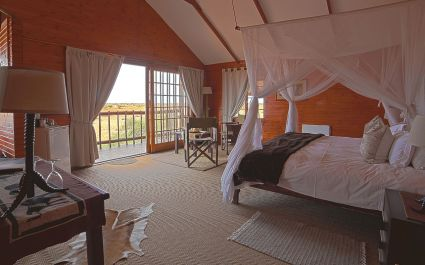 Double room at Bagatelle Game Ranch, Kalahari Desert in South Africa