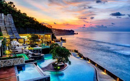 Pool area at Anantara Uluwatu Bali Resort Hotel in Uluwatu, Indonesia