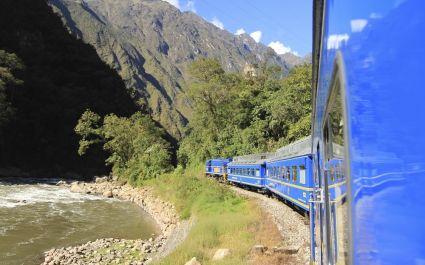 Scenery along the train journey from Cusco to Machu Picchu aboard the Vistadome Train