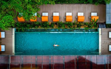 Pool at Nayara Springs Hotel in Arenal, Cost Rica