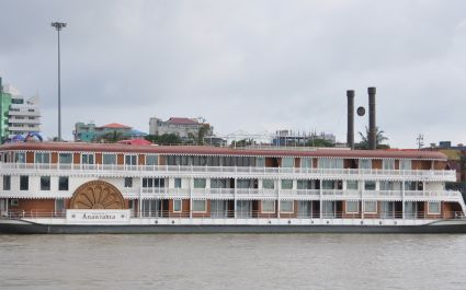 Exterior view of Heritage Line Cruise, Anawrahta, Bagan, Myanmar, Asia